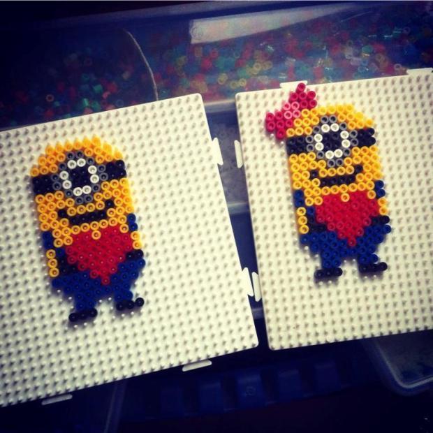 22 hama beads minions